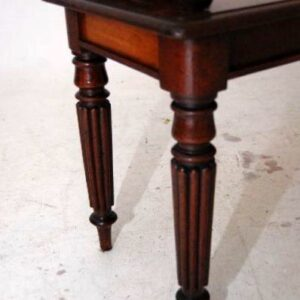 Reconstructed Antique Victorian Style Mahogany Bench