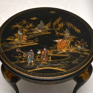 Antique Chinoiserie Lacquered Coffee Table