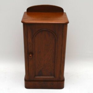 Antique Victorian Walnut Bedside Cabinet