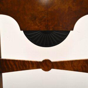 6 Antique Swedish Satin Birch Biedermeier Dining Chairs