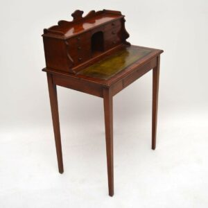 Small Antique Victorian Mahogany Escritoire Desk