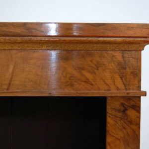 Pair of Antique Victorian Walnut Open Bookcases