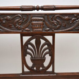 Antique Victorian Carved Mahogany Settee