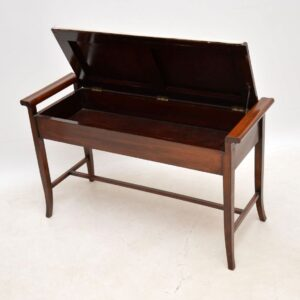Antique Edwardian Mahogany Duet Stool