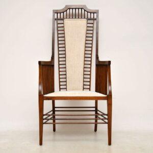 Antique Arts & Crafts Mahogany Armchair
