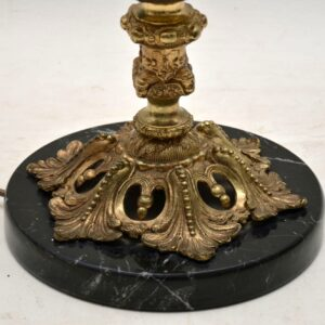 Large Antique Gilt Metal Flagon Lamp