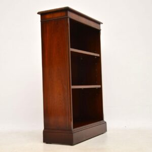 Antique Georgian Style Mahogany Open Bookcase