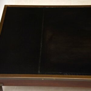 Antique Mahogany & Leather Campaign Style Coffee Table