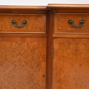 Antique Burr Maple & Walnut Breakfront Sideboard