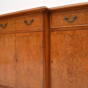 Antique Burr Maple & Walnut Breakfront Sideboard
