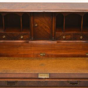 Antique Burr Walnut Bureau Desk