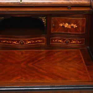 Antique French Style Tambour Bureau Desk