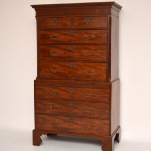 Antique Period Georgian Mahogany Chest on Chest Tallboy (1790s)