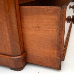 Antique Classic Victorian Mahogany Linen Press