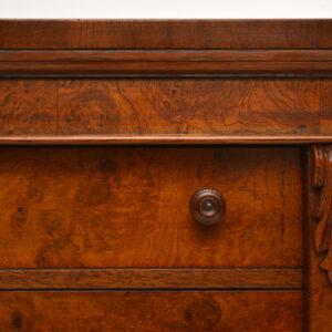 Large Impressive Antique Victorian Oak Wellington Chest of Drawers