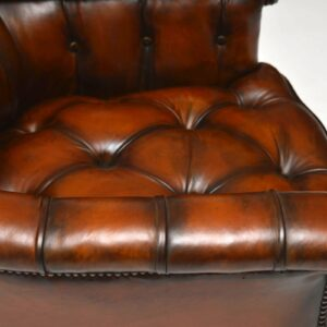 Stunning Antique Victorian Leather Armchair