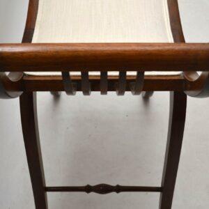 Antique Edwardian Mahogany Gondola Stool