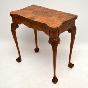 Antique Burr Walnut Card Table