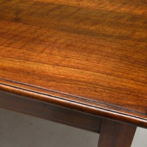 Large Antique Solid Walnut Dining Table