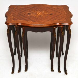 Antique French Style Inlaid Rosewood Nest of Tables