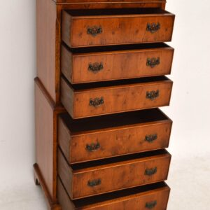 Antique Georgian Style Yew Wood Chest on Chest (1930-50s)