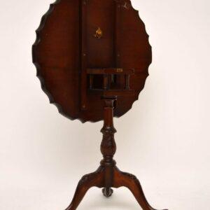Antique Mahogany Tilt Top Pie Crust Table