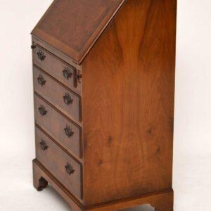 Slim Antique Georgian Style Burr Walnut Writing Bureau (1930)
