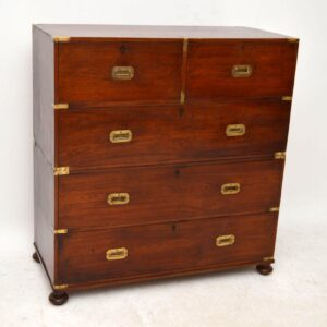 Antique Victorian Campaign Chest of Drawers