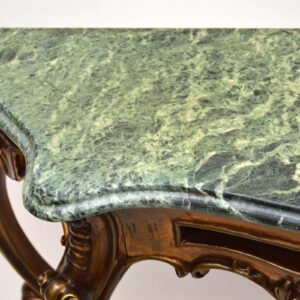 Antique French Gilt Wood Marble Top Console Table