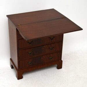 Antique Georgian Style Flame Mahogany Bachelors Chest of Drawers
