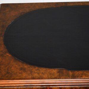 Large Very Impressive Antique Burr Walnut Partners Desk