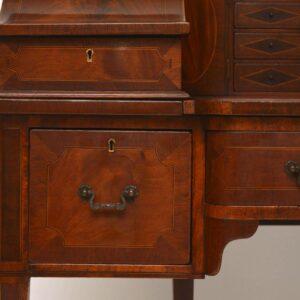 Antique Carlton House Inlaid Mahogany Desk