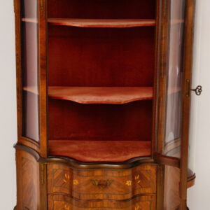 Antique Swedish French Style Display Cabinet