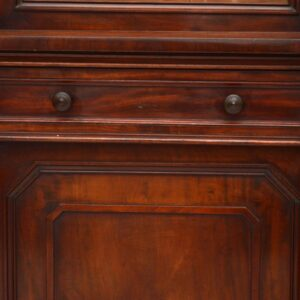 Antique Victorian Mahogany Secretaire Bookcase 'Winter & Son'