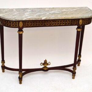 Antique French Style Marble Top Console Table