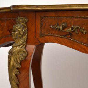 Antique French Marquetry Inlaid Bureau Plat Desk