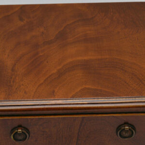 Small Mahogany 3 Drawer Chest on Legs