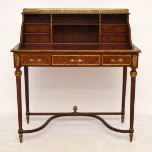 Antique French Style Walnut & Ormolu Mounted Writing Table - Desk