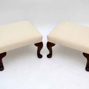 Pair of Antique Queen Anne Style Foot Stools