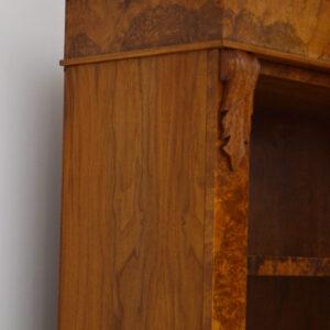 Antique Re-Constructed Burr Walnut Open Bookcase