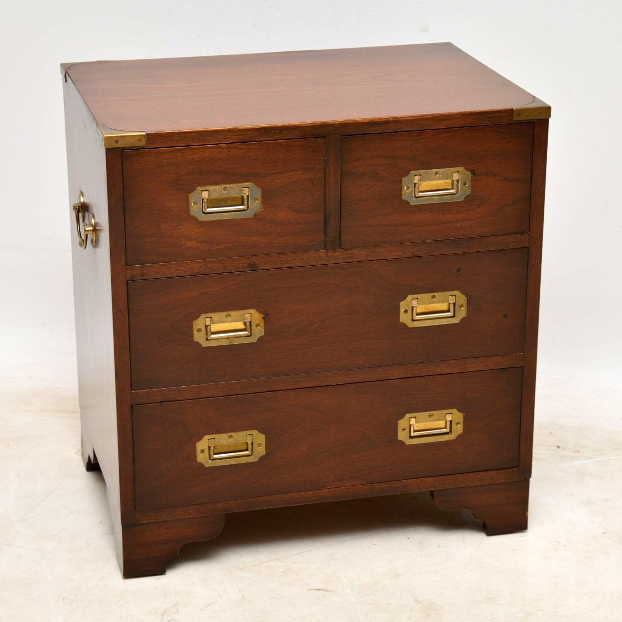 Antique Mahogany Military Campaign Chest of Drawers