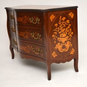Antique Dutch Marquetry Commode / Chest of Drawers
