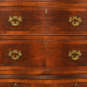 Antique Burr Walnut Serpentine Fronted Chest of Chest Tallboy