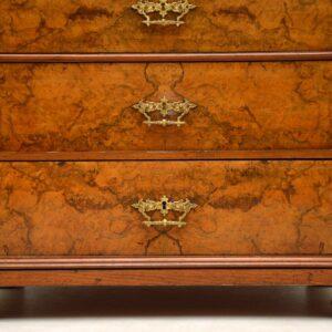 Large Antique Swedish Walnut Wellington Chest of Drawers