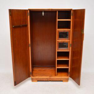 1920's Art Deco Burr Walnut Compactum Wardrobe