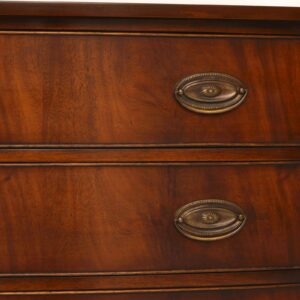 Antique Georgian Style Mahogany Bow Front Chest of Drawers