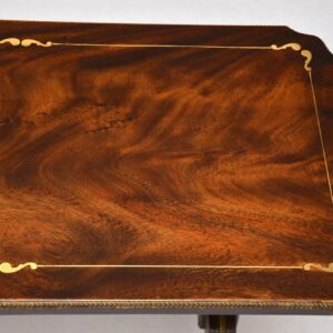 Antique Regency Style Mahogany Brass Inlaid Coffee Table