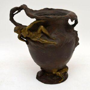 Antique Art Nouveau Bronze Urn