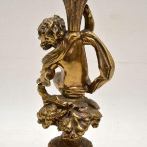 Antique Brass Cherub Table Lamp