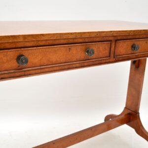 Antique Regency Style Burr Elm Writing Table